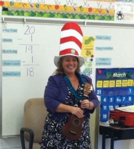 Read Aloud America program Dr Seuss birthday  Ewa Beach school in Hawaii 2013
