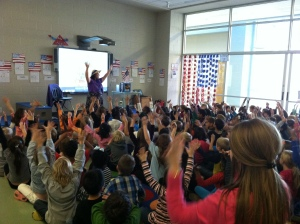 Author Singer gives patriotic presentation at Don Roberts Elementary about American Soldiers