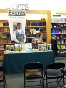 Barnes and Nobles Event August 2014. Dustin Hood -Editor of Senior Moments magazine and host of meet the author Carol Dabney and her book Dance Me Home at barnes and Nobles along with Alzheimer's informative panel
