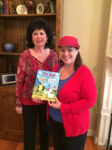 Children's authors Donna Watkins and Carol Dabney working together on audiobook adventures for children.