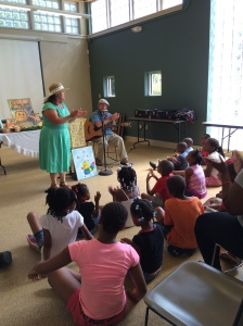 Reading and music at Williams Library