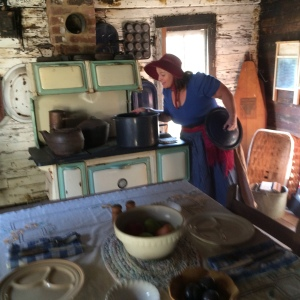 Carol Dabney cooking up something good for pioneer days at Scott's Pioneer Settlement