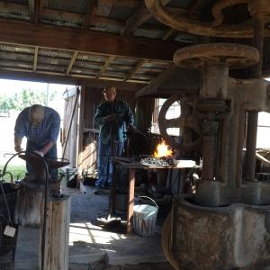 Blacksmith demonstration was really neat