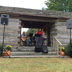 Playing our music. Original songs, plus country and gospel and patriotic music