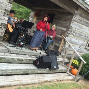 Carol Dabney singing for the folks at the Scott's fall festival