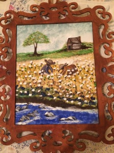 My cotton field watercolor painting