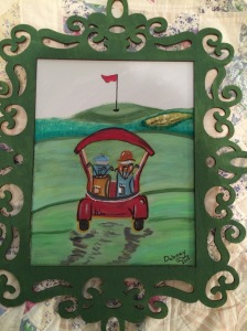 My Golf watercolor art